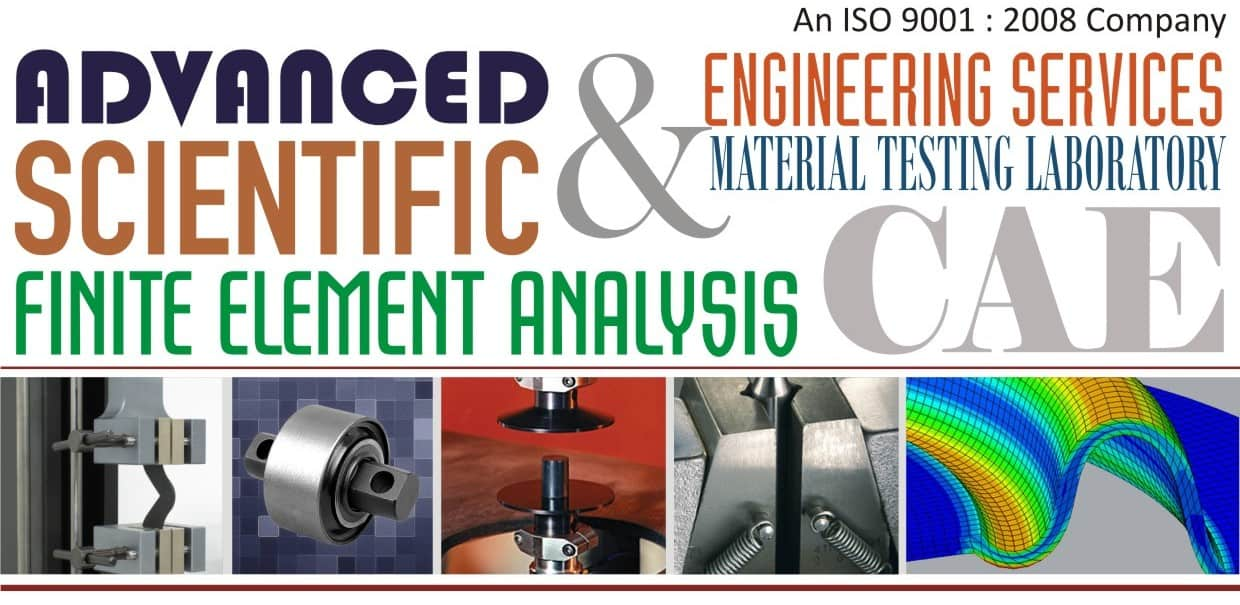 Finite Element Analysis FEA Consulting Services   Hyperelastic Polymer Rubber Material Characterization Fatigue Testing Lab Laboratory   Material Constants Testing   HCF LCF K1C KIC J1C CTOD Fatigue Testing Services   CAE   Mooney-Rivlin Ogden Yeoh Arruda Boyce Rubber Elastomer FEA Engineering Services   Strain Gauge Testing   Abaqus   Ansys   Failure Analysis Services